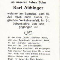 verunglückt tödlich mit dem Motorrad 1978 Karl