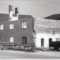 Abriss altes Wohnhaus 1981