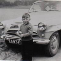 1957 erstes Auto - Aichinger Franz jun. heute auch schon in Pension